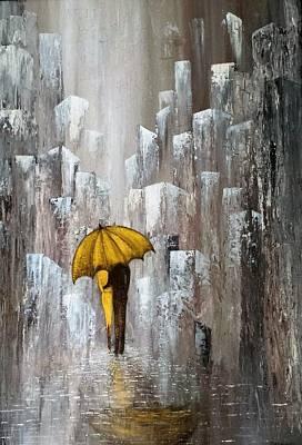 Painting - #922 Love Story by Linda Skibinsky