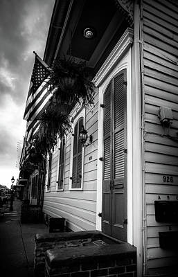 Shotgun Houses Wall Art - Photograph - 926 Bourbon Street In Black And White by Chrystal Mimbs