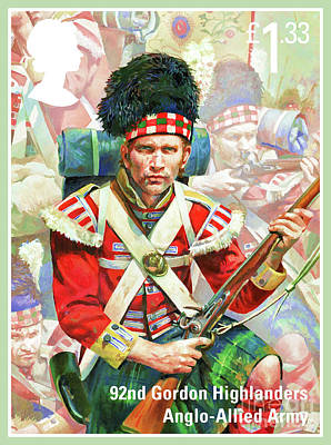 Painting - 92nd Gordon Highlanders by Lanjee Chee