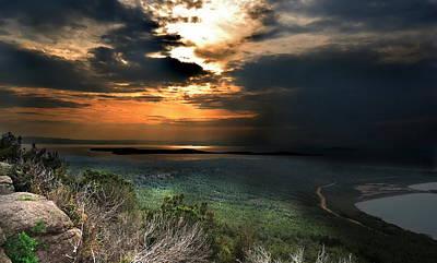 Sunset Digital Art - Landscape by Super Lovely