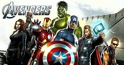 Superheroes Digital Art - Superhero Art by Egor Vysockiy