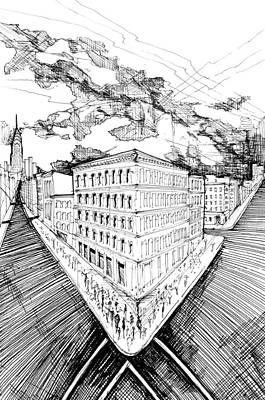 Drawing - 9.3.big-city-1-detail-b by Charlie Szoradi