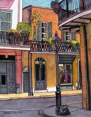 94  French Quarter Sunday Morning Art Print by John Boles