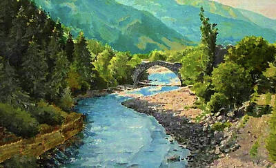 Valley Painting - Nature Landscape Wall Art by Edna Wallen
