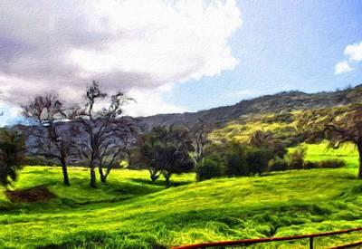 Bob Painting - Painting Landscape by Margaret J Rocha