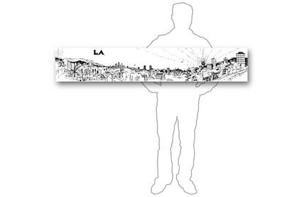 Drawing - 9.4.big-city-2-horizontal-with-figure by Charlie Szoradi