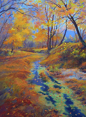 Summer Painting - Nature Landscapes Prints by Edna Wallen