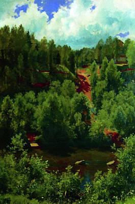 Sunrise Painting - Nature New Landscape by Edna Wallen