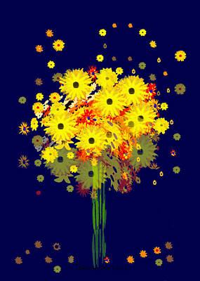 Painting - 952 - Summer Flowers  Yellow ... by Irmgard Schoendorf Welch