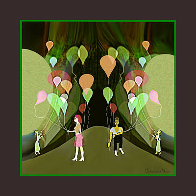 Painting -  953 - My Beautiful Balloon  by Irmgard Schoendorf Welch