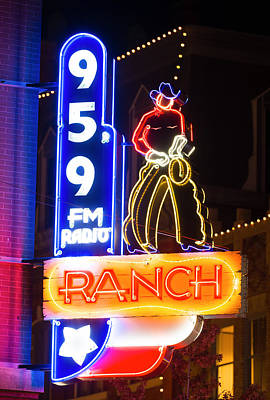 Photograph - 95.9 Neon Cowboy by Rospotte Photography