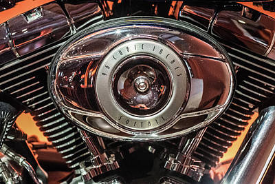 96 Cubic Inches Softail Art Print by Randy Scherkenbach