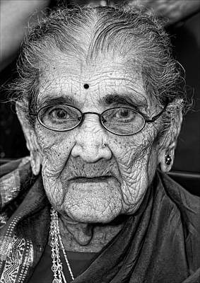 96 Year Old Indian Woman India Day Parade Nyc 2011 Art Print by Robert Ullmann