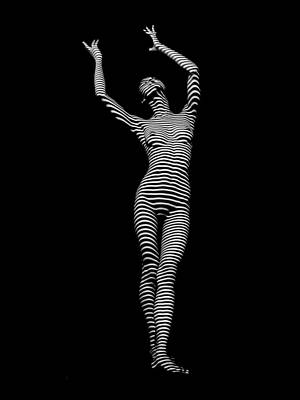 Photograph - 9686-dja Female Form Arms Up Black White Abstract Photograph By Chris Maher by Chris Maher