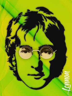 Beatles Mixed Media - John Lennon Collection by Marvin Blaine