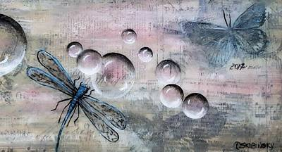 Painting - #986 Bubbles Series 8 by Linda Skibinsky