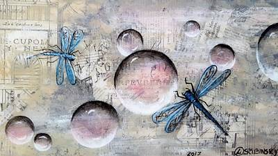 Painting - #987 Bubbles Series 9 by Linda Skibinsky