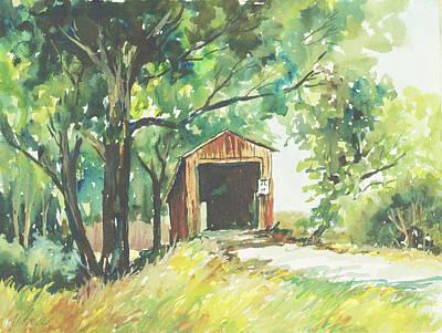 Covered Bridge Painting - 98 Covered Bridge by Marilynne Bradley