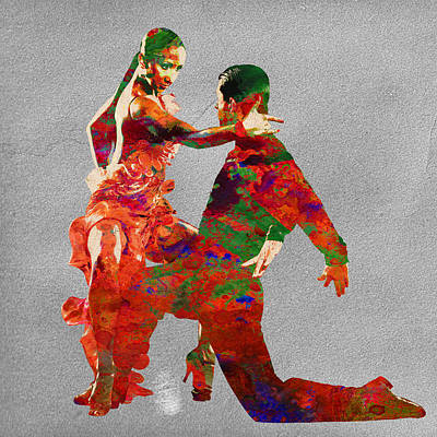 Dance Art Print by Elena Kosvincheva