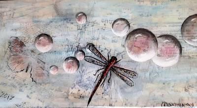 Painting - #989 Bubbles Series 11 by Linda Skibinsky