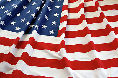 Photograph - Usa Flag by Les Cunliffe