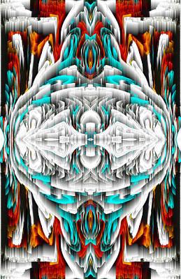 Digital Art - 992.042212mirror2ornateredablue-1 by Kris Haas