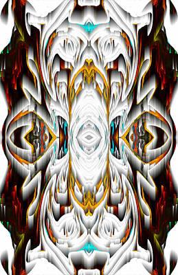 Digital Art - 992.042212mirror2ornateredagold-1a-1 by Kris Haas