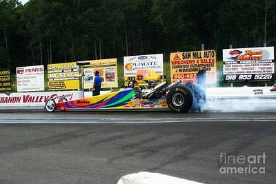 Wall Art - Photograph - 9985 08-04-2013 Lebanon Valley Dragway Night Of Fire by Vicki Hopper