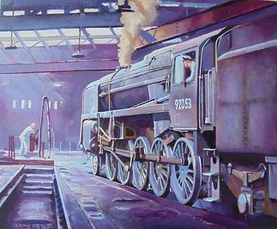Painting - 9f On Shed. by Mike Jeffries