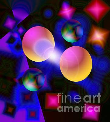 Digital Art - 9orbs by Dan Sheldon