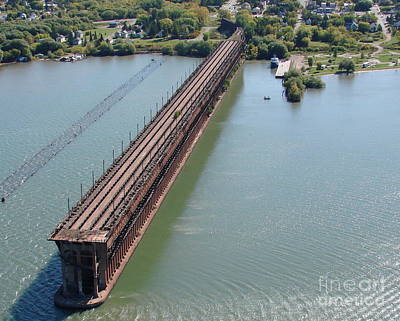Photograph - A-010 Ashland Wisconsin Ore Dock by Bill Lang