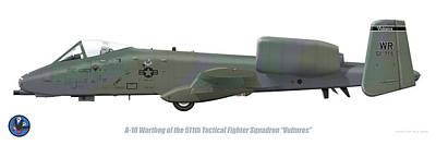 Digital Art - 511th Tfs A-10 Warthog by Barry Munden