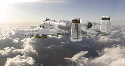 Digital Art - A-10 Thunderbolt II by David Collins