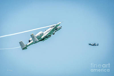 Photograph - A-10 Thunderbolt II Making Their Pass by Rene Triay Photography