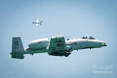 Photograph - A-10 Thunderbolt II Maneuvers by Rene Triay Photography