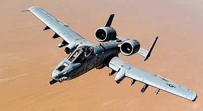 Photograph - A-10 Thunderbolt II Over The Desert by Weston Westmoreland