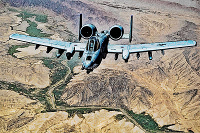 Photograph - A-10 Thunderbolt II Sketch by Ericamaxine Price