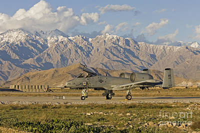 Afghanistan Photograph - A-10 Warthog At Bagram by Tim Grams