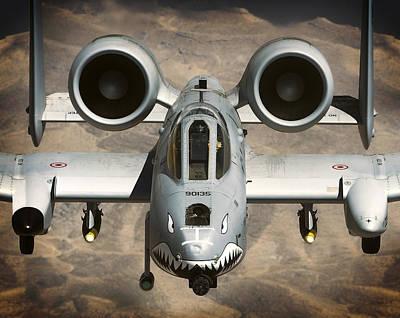 A-10 Warthog Power Art Print by Daniel Hagerman