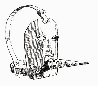 A 17th Century Brank Or Muzzle. From Art Print by Vintage Design Pics