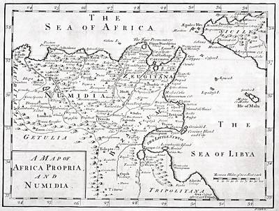 Maltese Drawing - A 19th Century Map Of Africa Propria by Vintage Design Pics
