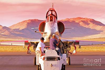 A-4 Skyhawk Sunset Original
