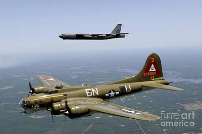 Photograph - A B-17g Flying Fortress Participates by Stocktrek Images