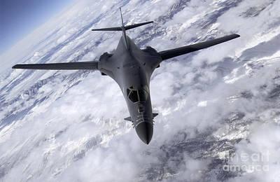 Lancer Photograph - A B-1b Lancer Flies Over The Nevada by Stocktrek Images