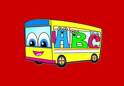 A B C Bus T-shirt Art Print by Herb Strobino
