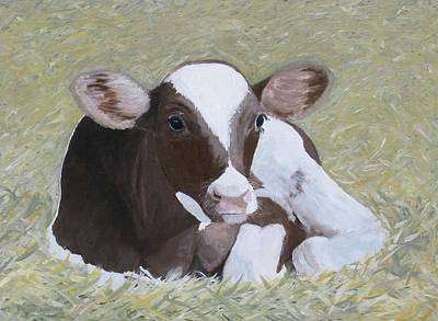 Painting - A Baby Ayrshire by Barb Pennypacker