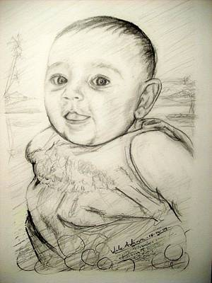 Drawing - A Baby Smile by Wale Adeoye