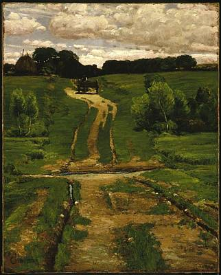 Back Road Painting - A Back Road by Frederick Childe Designs