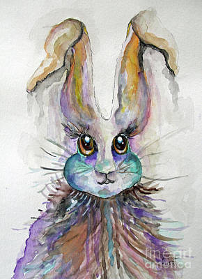 Painting - A Bad Hare Day by Rosemary Aubut