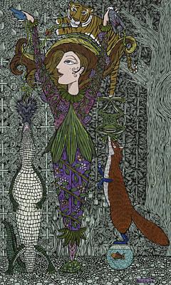 Pear Tree Mixed Media - A Balance Of Nature by Pamela Joy Trow-Johnson